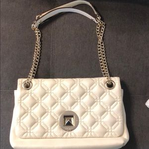 Handbags - Cream colored quilted Kate Spade bag, used once